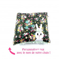 Coussin carré lapin